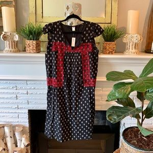 Old Navy Embroidered Tassel Bohemian Dress NEW M